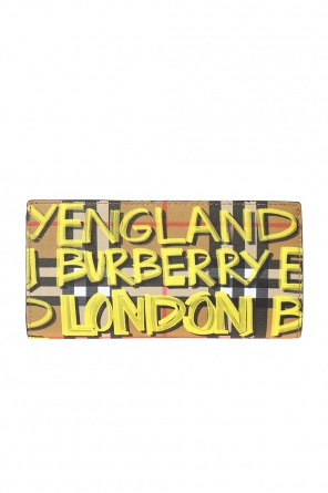 Folded wallet with plaid motif od Burberry