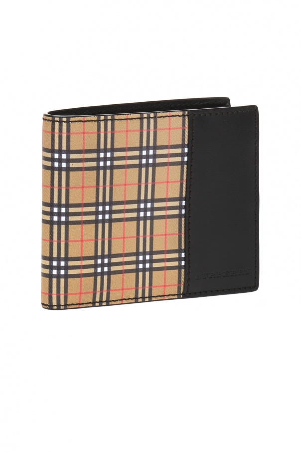 Folded wallet with a logo od Burberry