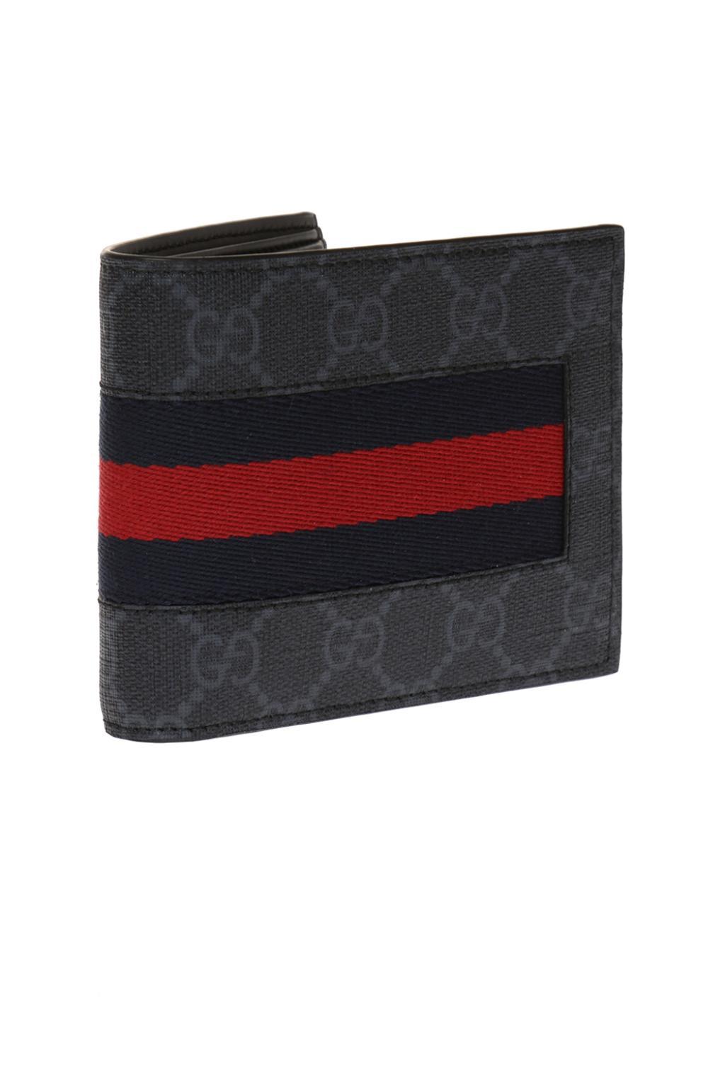 Gucci Składany portfel z paskiem 'Web'