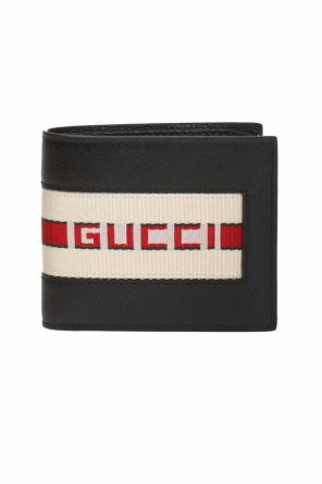 Wallet with a logo and 'web' stripes od Gucci