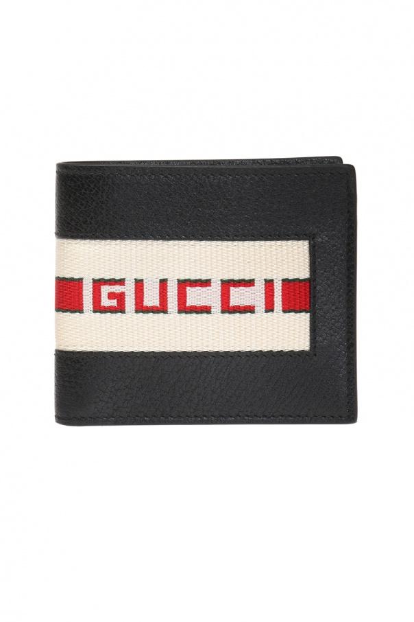 89048de94c017e Web' leather wallet Gucci - Vitkac shop online