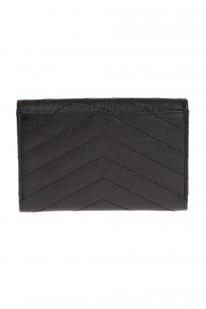 'monogram' quilted wallet od Saint Laurent