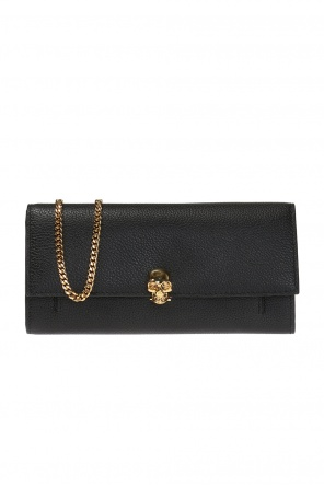 Wallet with a chain and a skull motif od Alexander McQueen