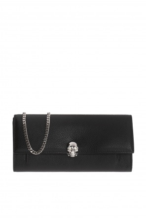 Skull motif wallet on chain od Alexander McQueen