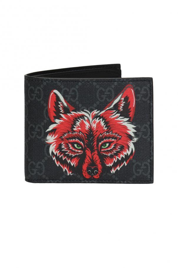 73e5d5f1e0614 Portfel z motywem głowy wilka Gucci - sklep internetowy Vitkac