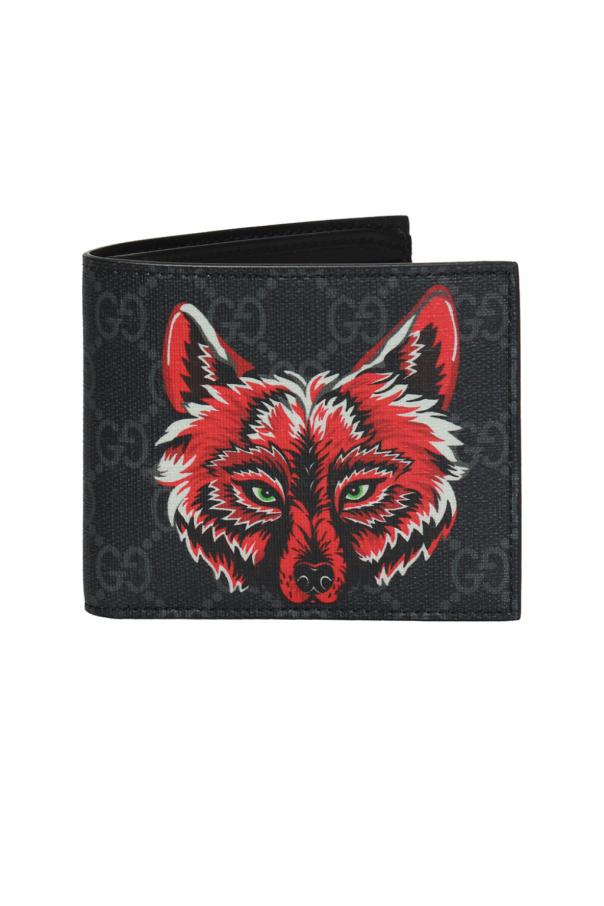 a31e88b146df Wolf head motif wallet Gucci - Vitkac shop online