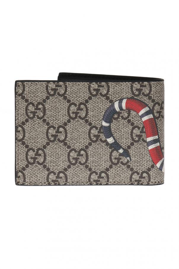 3899a64e919 Snake-printed bi-fold wallet Gucci - Vitkac shop online