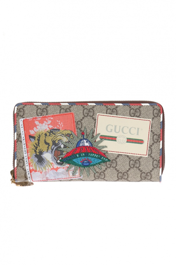 1814c3984d5 GG Supreme  canvas wallet Gucci - Vitkac shop online