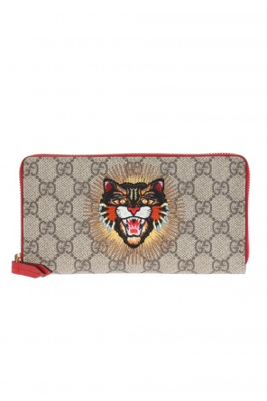 'gg supreme' canvas wallet od Gucci