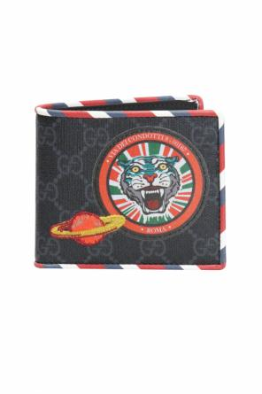 'gg supreme' canvas bi-fold wallet od Gucci