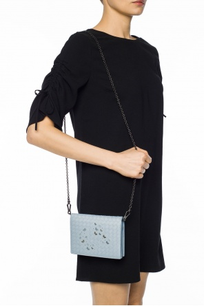 Wallet on chain with 'intrecciato' pattern od Bottega Veneta