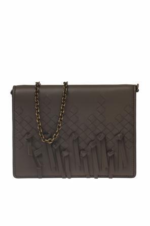 'intrecciato' pattern wallet on chain od Bottega Veneta