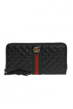 cc933803f9766 ... Pikowany portfel z paskiem 'web' od Gucci