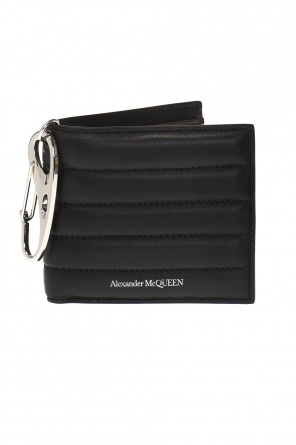 Quilted wallet with logo od Alexander McQueen