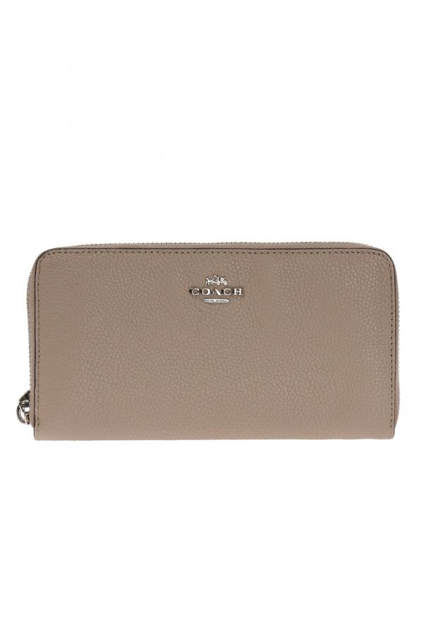 Wallet with metal logo od Coach