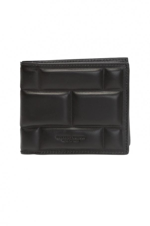 Bottega Veneta Składany portfel z logo