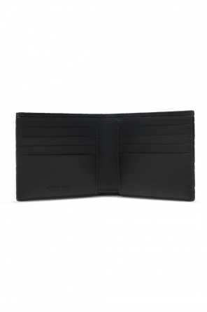 Folding leather wallet od Bottega Veneta