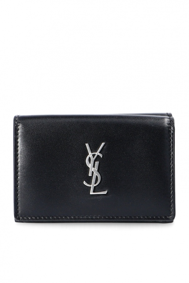 Saint Laurent Leather wallet with logo