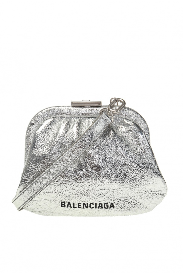 Balenciaga Branded wallet on strap