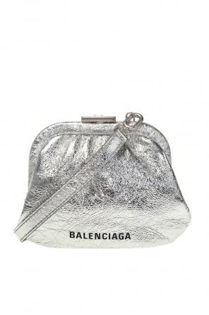 Branded wallet on strap od Balenciaga