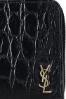 Saint Laurent Leather wallet with logo