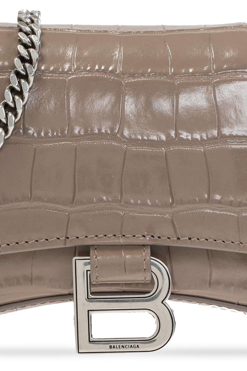 Balenciaga 'Hourglass' wallet with chain