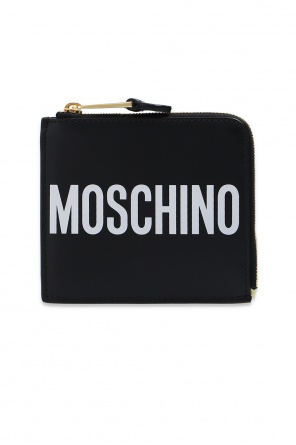 Leather wallet with logo od Moschino