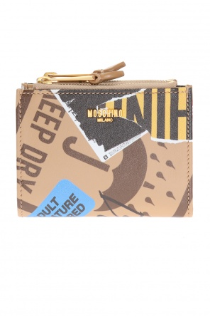 Metal logo patterned wallet od Moschino