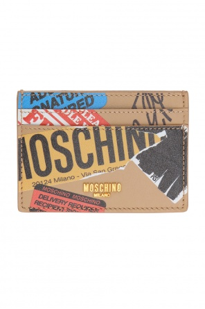 Patterned card case od Moschino