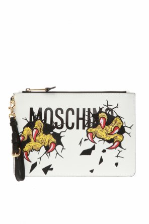 Clutch with logo od Moschino