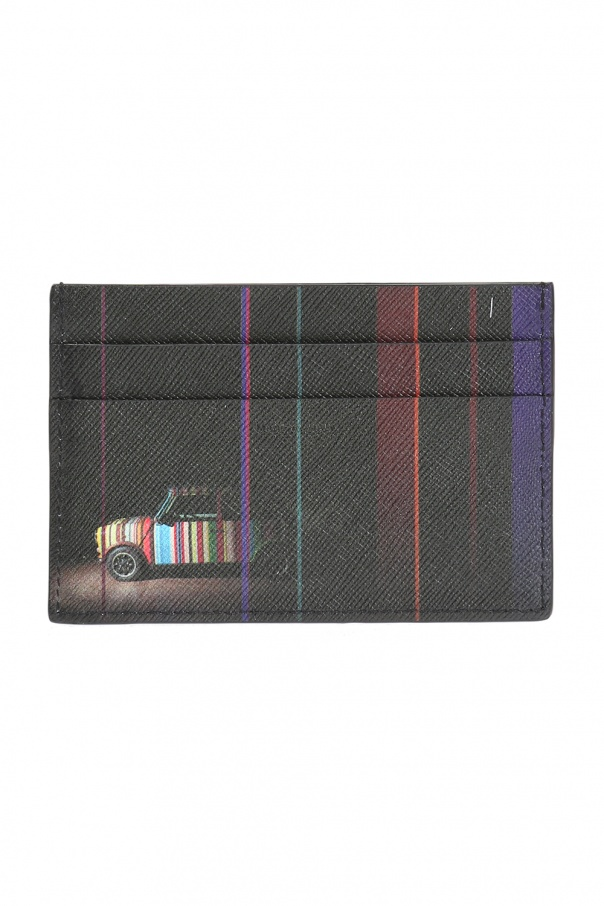 Printed leather card case od Paul Smith
