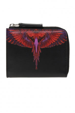 Printed leather wallet od Marcelo Burlon