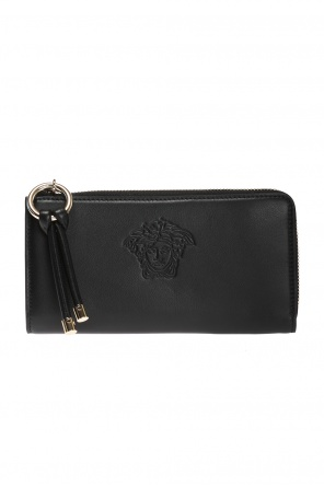 Embossed medusa head wallet od Versace