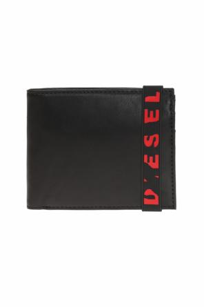 Hiresh s' wallet with a logo od Diesel
