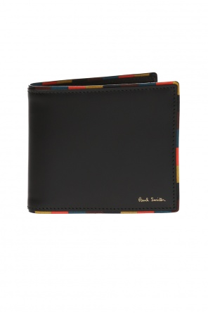 Wallet with a logo and a striped pattern od Paul Smith
