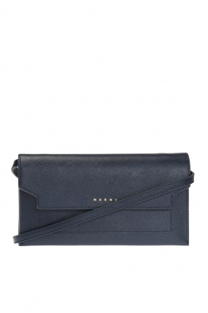 Wallet on strap with logo od Marni