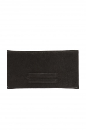 Wallet with embossed stripes od Rick Owens