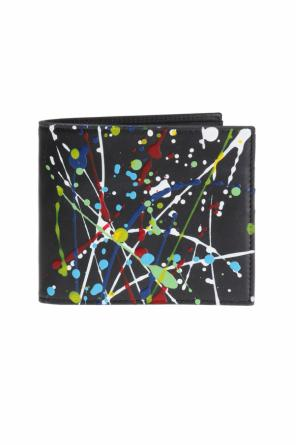 Paint-splattered card case od Maison Margiela