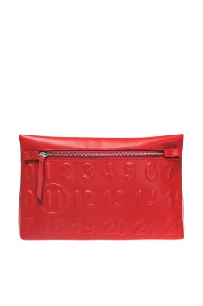 Clutch with embossed logo od Maison Margiela