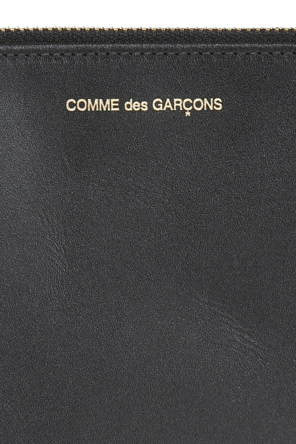Comme des Garcons Embossed logo leather pouch