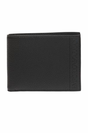 Folded wallet with an embossed logo od Emporio Armani