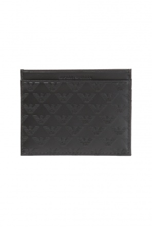 Embossed pattern card case od Emporio Armani