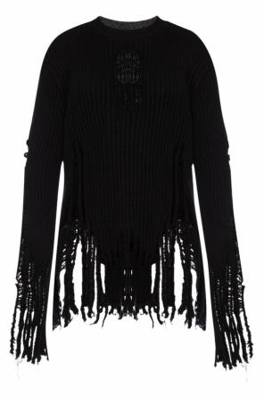 Fringed sweater od Balmain