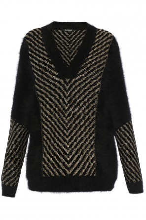 Lurex thread sweater od Balmain