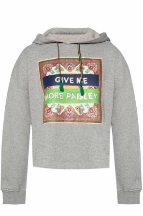 Sweatshirt with a sewn-on application od Etro