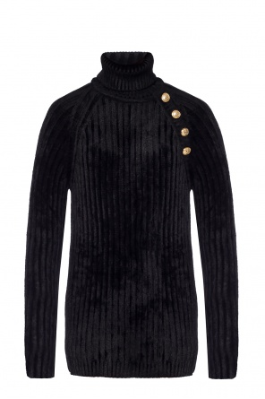Ribbed turtleneck top od Balmain