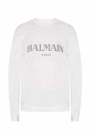 Sweatshirt with a printed logo od Balmain