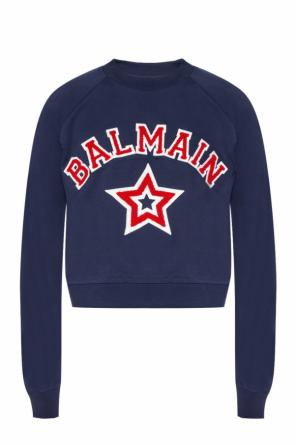 Sweatshirt with a logo application od Balmain