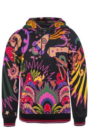 Printed hooded sweatshirt od Etro