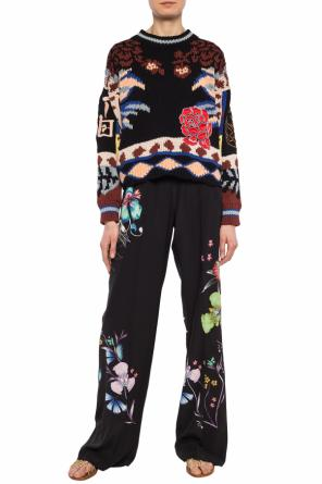 Woven sweater with a patch od Etro